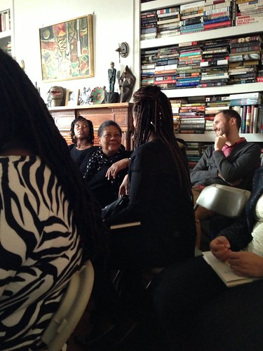 Poet Marilyn Nelson, at center (looking towards camera)