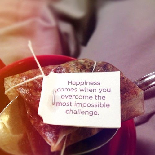 """#Happiness and """"challenges"""". It's not so much that they go hand-in-hand but that both are themes in our lives that we get recognize are always there and totally up to us in how we experience them."""