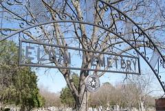 Photo of Elgin Cemetery, Elgin, TX black plaque