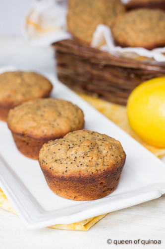 Lemon Poppy Seed Muffins from Queen of Quinoa