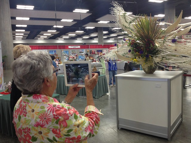 Pic of lady using iPad to take pic @Honolulufest