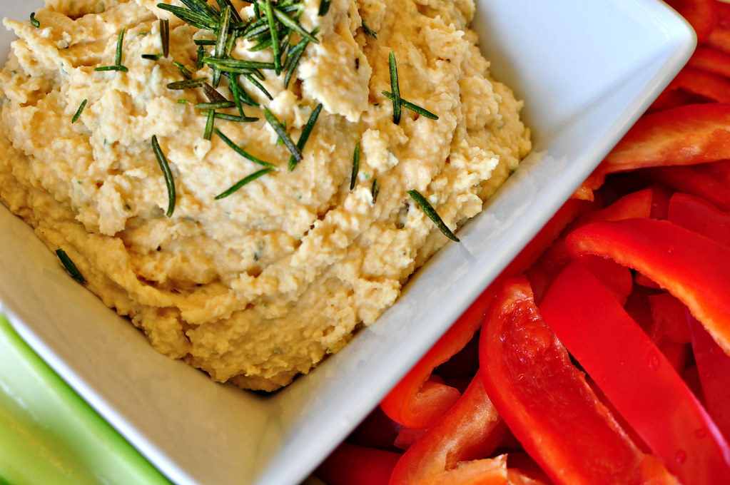 Crispy Rosemary Hummus {Lightened Up} - Meg's Everyday Indulgence