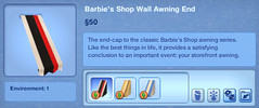 Barbie's Shop Wall Awning End