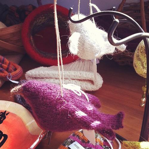 Knit birds.