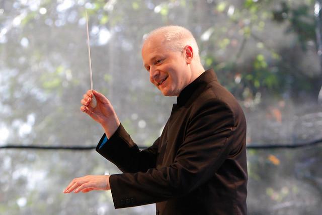 George Benjamin in rehearsals © GR Millard