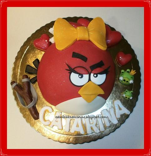 Bolo Angry Birds I by Osbolosdasmanas