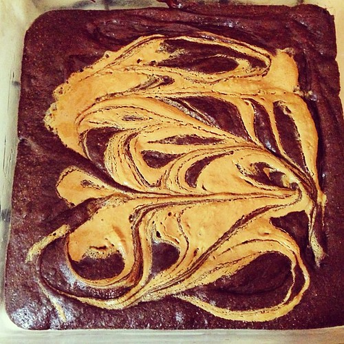 David Lebovitz's Gluten-free Peanut Butter Brownies