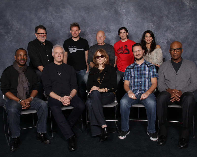 Justin and DLG with the Star Trek TNG Crew