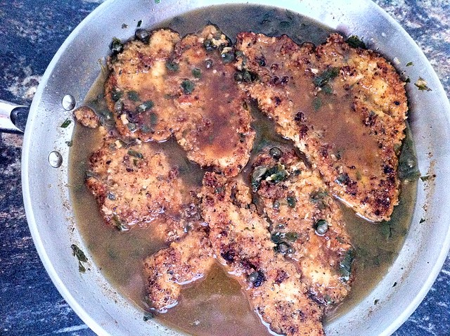 Simmering Chicken in Pan Sauce