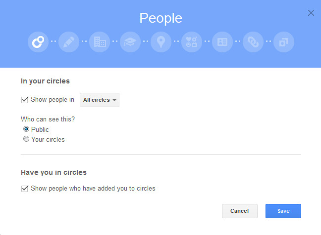 google+aboutmodification
