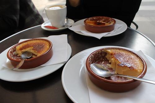 Paris - Sitting at a cafe eating creme brulee
