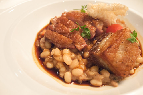 Noble Farms Duck Cassoulet with Crispy Pork Belly @ Yellow Door Bistro