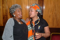 DSCF3545 SA Freedom Day - South Africa High Commission April 2005 With Thandi Klaasen RIP and Vuvu