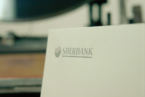 Sberbank letterpress envelopes
