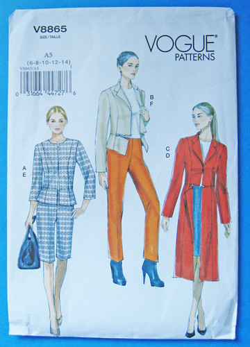 Vogue 8865 pattern jacket