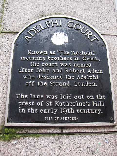Adelphi Court brown plaque | Open Plaques
