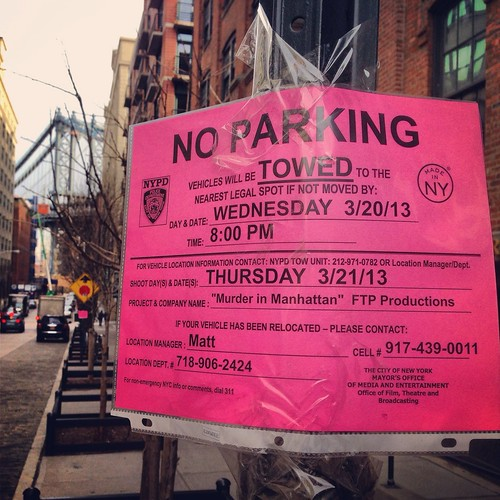 Filming in Dumbo: Murder in Manhattan