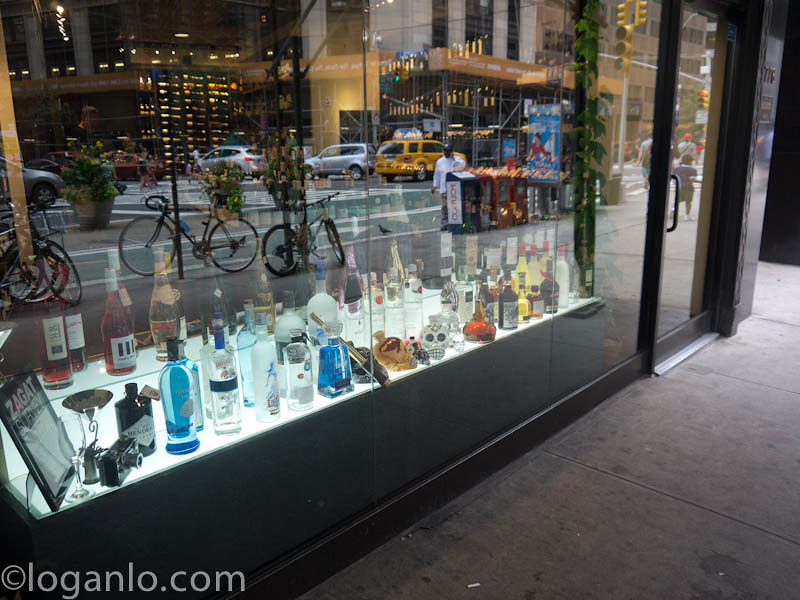 Liquor storefront in NYC