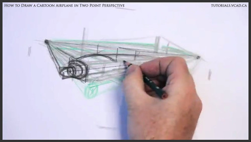 learn how to draw a cartoon airplane in two point perspective 014