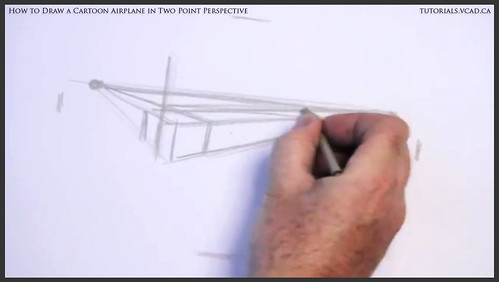 learn how to draw a cartoon airplane in two point perspective 002