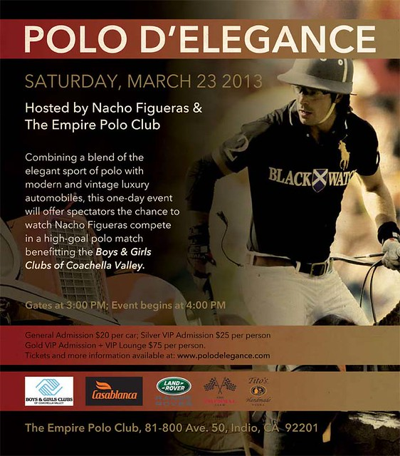 Polo d'Elegance Charity Match, PoloEmpire Polo Club, Nacho Figueras, Boys and Girls Club of Coachella Valley