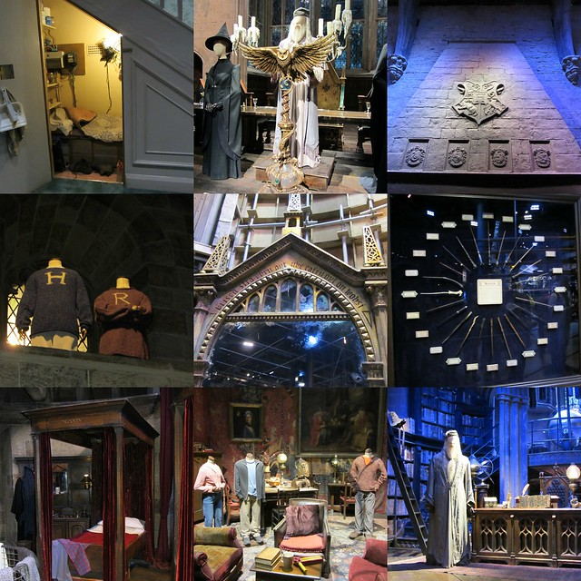 harry potter studio tour, great hall, gryffindor common room, dumbledore's office
