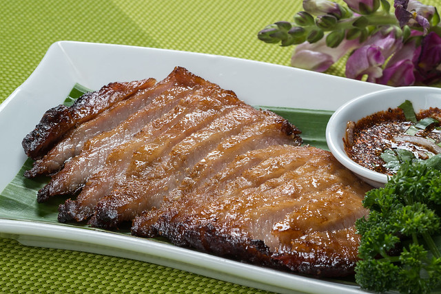 Thai Style Grilled Pork Neck | Flickr - Photo Sharing!
