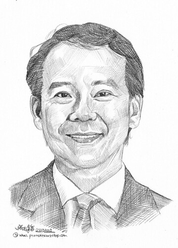 Pencil portrait for Chinese Swimming Club Jonathan Kuah - 8
