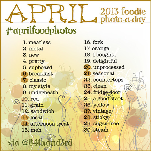 April Photo Challenge 2013 #aprilfoodphotos: The Foodie Photo-A-Day!