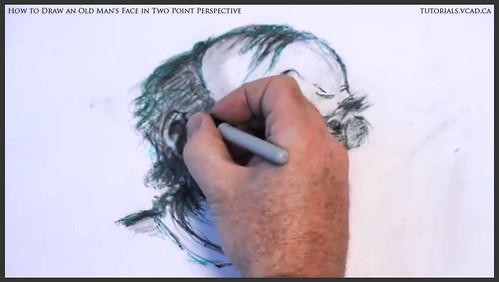 learn how to draw an old man's face in two point perspective 042