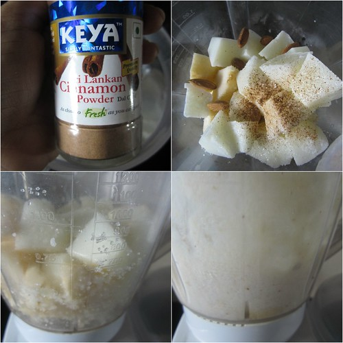 Apple Milkshake{with Almonds&Cinnamon}-step2