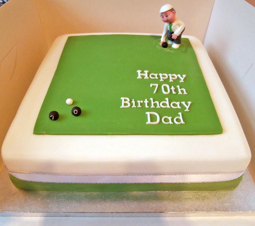 Bowls 70th Birthday Cake