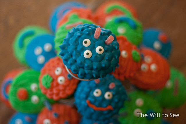 Will's Monster Cupcakes