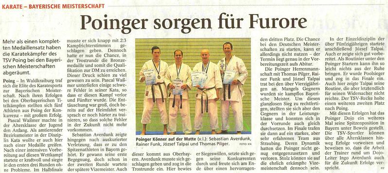 Artikel Bayerische Meisterschaft