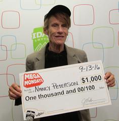 Nancy Peterson - $1,000 Mega Mondays
