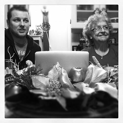 Grandma and Nick Chatting it up