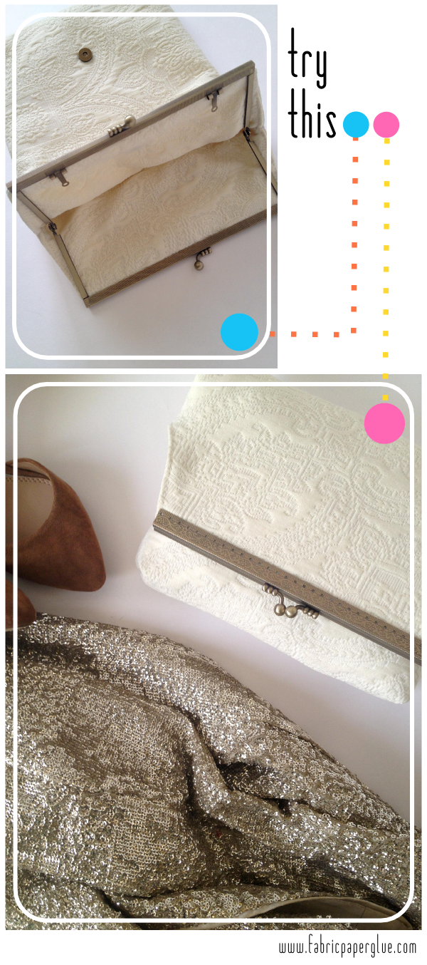Foldover Framed Clutch