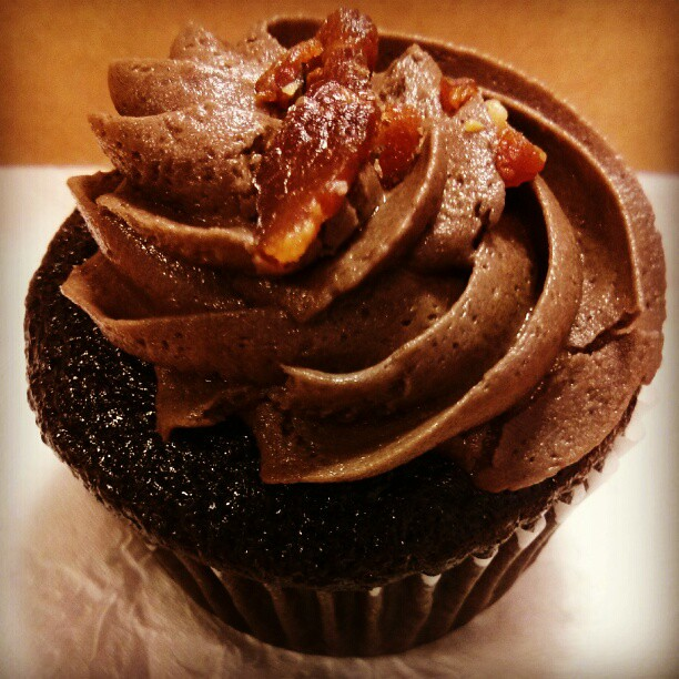 Dark Chocolate Bacon #cupcake | Flickr - Photo Sharing!