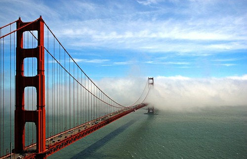 ocean sf sanfrancisco california ca bridge sea usa water weather fog clouds digital bay view unitedstates goldengatebridge goldengate vista sanfranciscobay westcoast span marinheadlands 2007 fogbank ggb nikond80