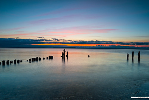 longexposure sunset sky seascape beach water colors clouds landscape washington surf waves unitedstates sound pilings puget edmonds picnicpoint nikonwideanglepcenikkor24mmf35ded