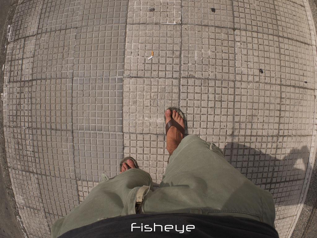 Me in the sidewalk