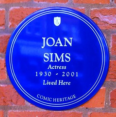 Photo of Joan Sims blue plaque