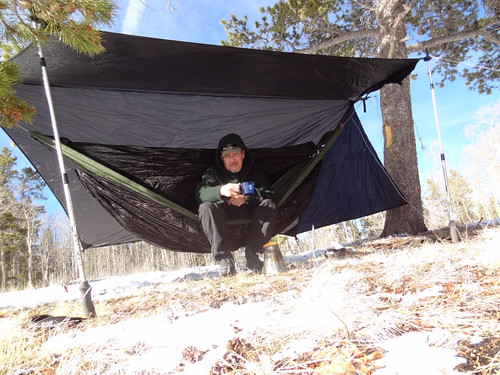 and last but not least i always wanted to try a bridge hammock  this is a jacksorbetter bear mtn bridge ul with a modified warbon  sock  a photo history of my camping hammocks  rh   hammockforums