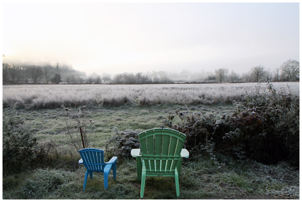 Frost in rural Sonoma County, California