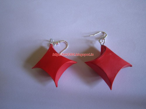 Handmade Jewelry - Paper Gift Box Earrings by fah2305