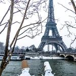 Il neige sur Paris - 20 janvier 2013