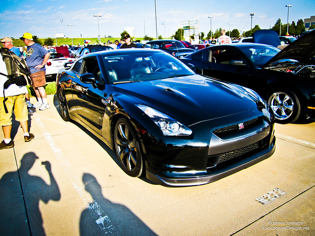 Nissan GT-R at Cars and Coffee Dallas show