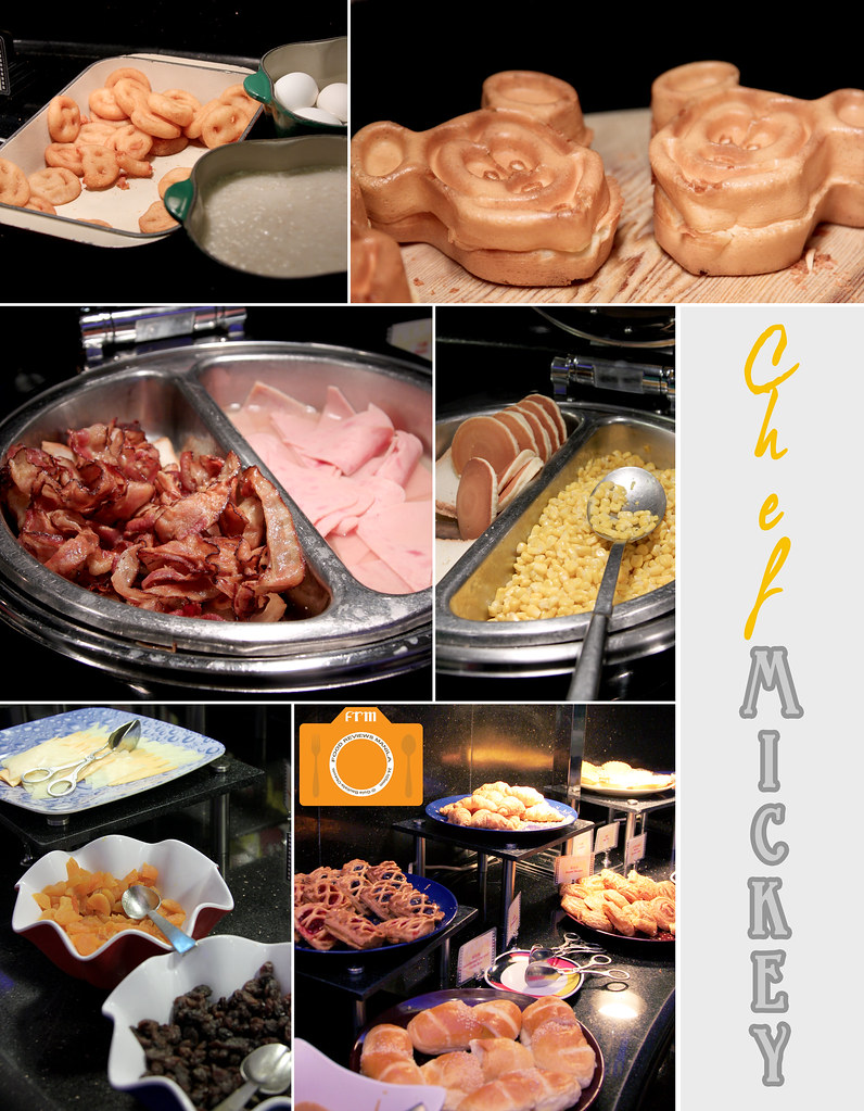 Chef Mickey buffet collage 2