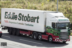 Scania R440 6x2 Tractor - PJ11 YCD - Calissia Rose - Green & Red - Eddie Stobart - M1 J10 Luton - Steven Gray - IMG_8949