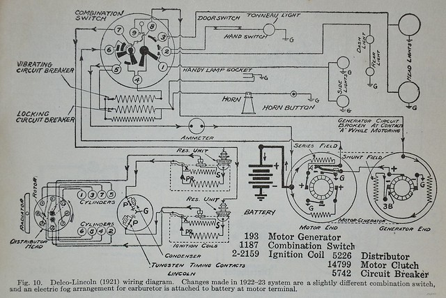 Lincoln '21 wiring diagram - Dyke's Automotive 1928 ...